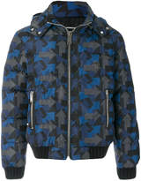 Les Hommes arrow print down jacket