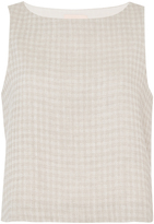 Brock Collection Linen Gingham Twill Bally Blouse