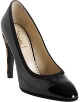 black patent leather 'Y Love' pumps