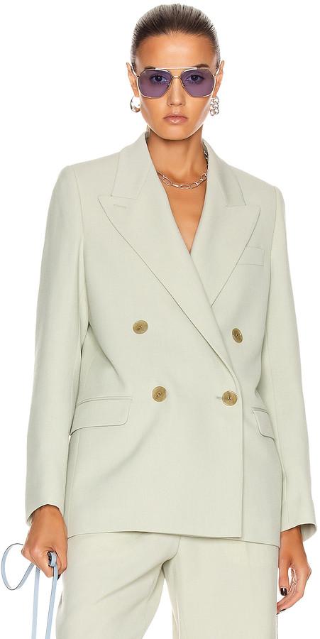 Acne Studios Suit Jacket in Pastel Green | FWRD