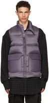 Rick Owens Purple Down Mollino Vest