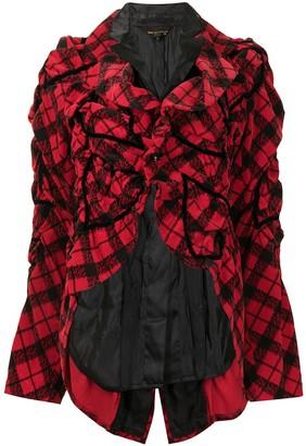 Comme Des Garçons Pre-Owned Ruched Heart Motif Jacket