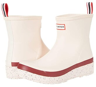 Hunter Play Short Speckle Sole Wellington Boots (Moonstone Pink/Autumn Stone) Women's Shoes