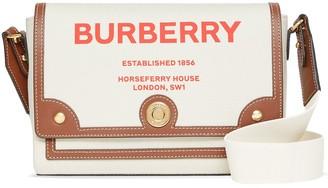 Burberry Note Horseferry-print canvas crossbody bag