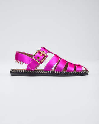 Marni Satin Caged Espadrille Sandals