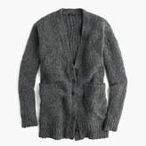 J.Crew Collection rib-trim cardigan sweater in merino wool blend