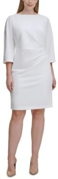 Jessica Howard Plus Size Draped Sheath Dress