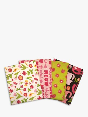 Visage Textiles Oh Happy Day Printed Fat Quarter Fabrics, Pack of 4, Multi