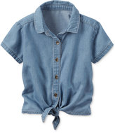 Carter's Chambray Tie-Front Shirt, Little Girls (2-6X)