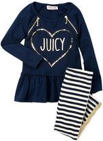 Juicy Couture Toddler Girls) Navy Sequin Logo Tunic & Leggings Set