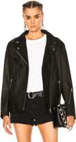 Alexander Wang Oversized Leather Moto Jacket