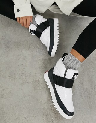 Sorel Joan Of Arctic Next Lite short ankle boots in white