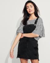 Hollister Ripped Denim Skirt Overalls