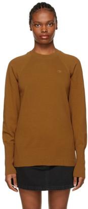 Kenzo Tan Oversized Tiger Crest Sweater