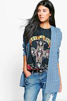 Boohoo Leah Cable Cardigan With Pockets