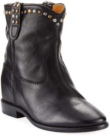 Isabel Marant Cluster Hidden-Wedge Western Boot, Black