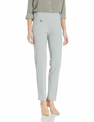 Slim Sation SLIM-SATION Women's Pull On Solid Knit Easy Fit Narrow Leg Pant with Tummy Panel