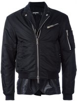 DSQUARED2 peaked accent bomber jacket - men - Cotton/Calf Leather/Nylon/Polyurethane - 50