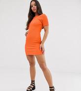 Rokoko short sleeved bodycon crinkle mini dress