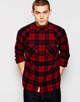Carhartt Checked Norris Shirt - Red