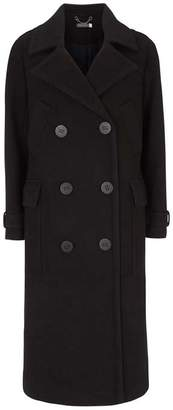 Mint Velvet Black Military Coat