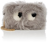 Anya Hindmarch Women's Eyes Shearling Mini-Crossbody Bag