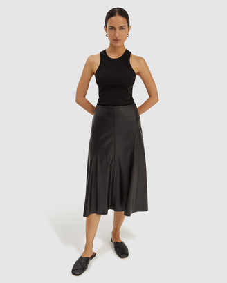 SABA Women's Black Leather skirts - Viv Vegan Leather Skirt - Size One Size, 8 at The Iconic