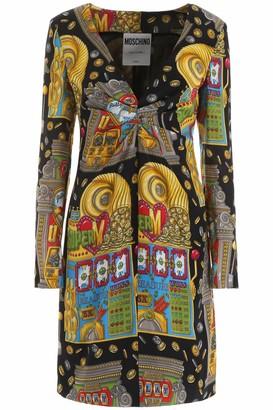 Moschino SLOT MACHINE DRESS 42 Yellow, Green, Red