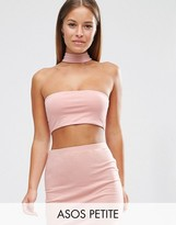 Asos Crop Bandeau With With Choker Detail