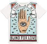 "Gucci Children's cotton T-shirt with ""Blind for Love"" print"
