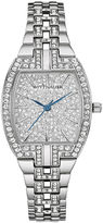 Wittnauer Womens Crystal-Accent Tonneau Stainless Steel Bracelet Watch WN4016