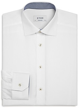 Eton Contemporary Fit Dress Shirt Contrast Micro Print Dress Shirt