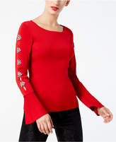 INC International Concepts Embellished Cutout Sweater, Created for Macy's