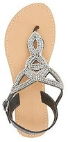 Charlotte Russe Rhinestone-Embellished Looped Thong Sandals