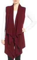 Halogen Wool & Cashmere Drape Front Sweater Vest (Regular & Petite)