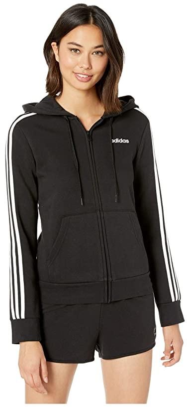 aaf145a7 Essential 3 Stripes Fleece Full Zip Hoodie