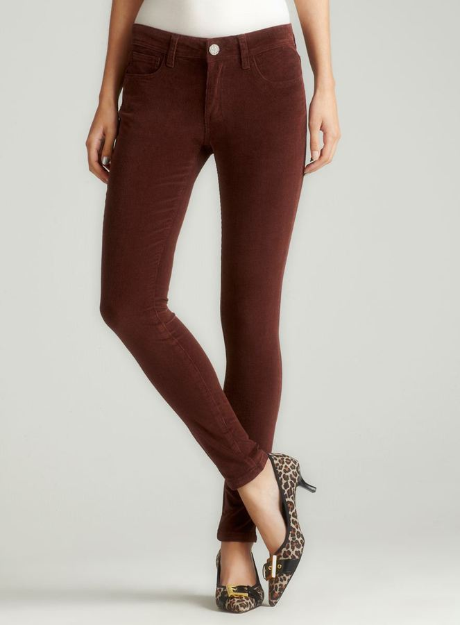 Romeo & Juliet Couture Skinny Cord In Chestnut