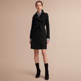 Burberry The Kensington - Long Heritage Trench Coat , Size: 02, Black