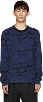 Lanvin Black & Blue Reversible Sweater