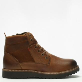 Daniel Reid Tan Leather Lace Up Ankle Boots