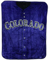 Northwest Company Colorado Rockies Plush Jersey Throw Blanket