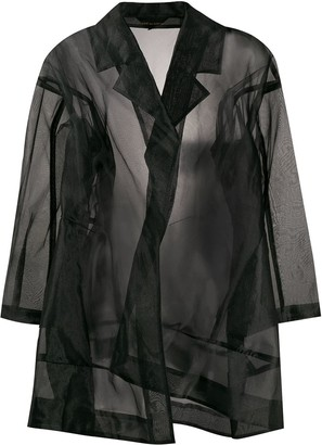 Comme des Garcons Pre-Owned 1997 sheer oversized coat
