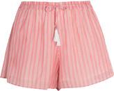 Zimmermann Roza striped cotton-voile shorts