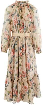 Zimmermann Kirra long silk dress