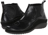 Naot Footwear Chi (Black Madras Leather/Black Suede) Women's Zip Boots