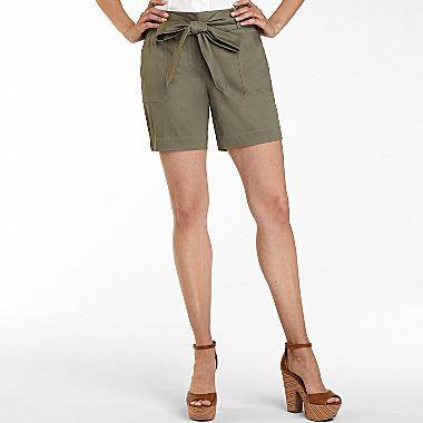 JCPenney Worthington® Belted Shorts