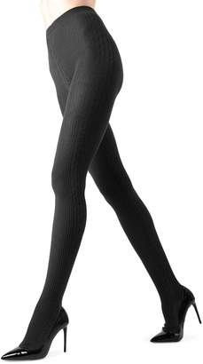 Me Moi Memoi Side Cable-Knit Sweater Tights