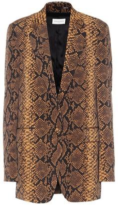 Dries Van Noten Snake-print wool blazer