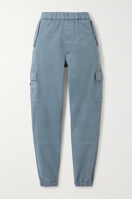 J Brand Eugene Cropped Cotton-blend Twill Cargo Pants - Blue
