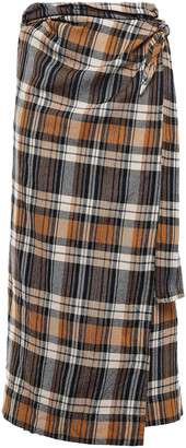 Forte Forte Wool Midi Wrap Skirt